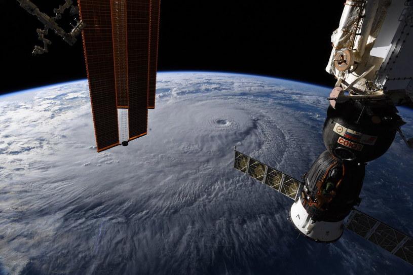 Huragan Lane widziany z kosmosu /NASA /PAP/EPA