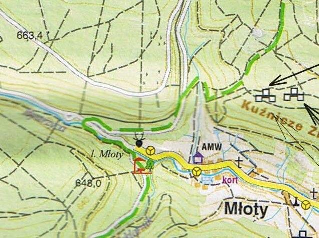 Huta: Mapa turystyczna /Odkrywca