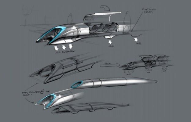 Hyperloop - wizualizacja      Fot. Elon Musk /materiały prasowe