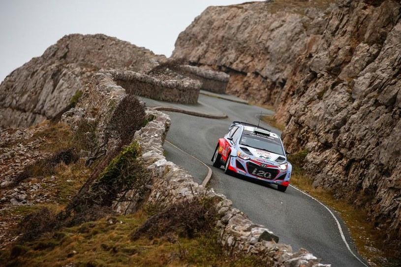 Hyundai i20 WRC podczas zeszłorocznego Rajdu Walii /