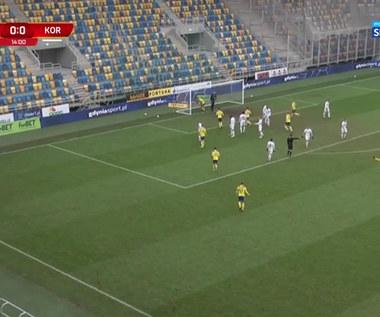 I Liga. Arka Gdynia - Korona Kielce 1-0. Zwycięski gol (Polsat Sport). wideo