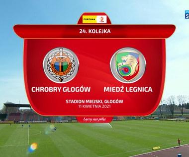 I Liga. Chrobry Głogów - Miedź Legnica 0-0. Skrót meczu (POLSAT SPORT). Wideo