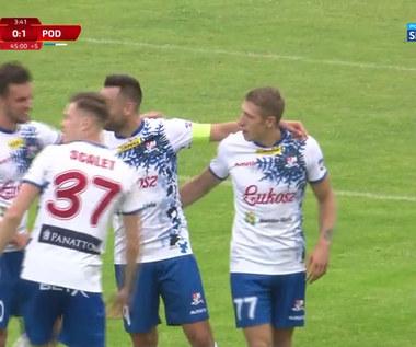 I liga. Górnik Polkowice - Podbeskidzie Bielsko-Biała 1-1 - skrót meczu. WIDEO (POLSAT SPORT)