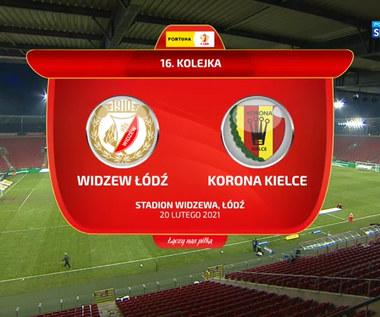 I Liga. Widzew Łódź - Korona Kielce 2-0. Skrót meczu (POLSAT SPORT). Wideo