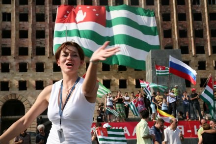 ...I w Abchazji. /AFP