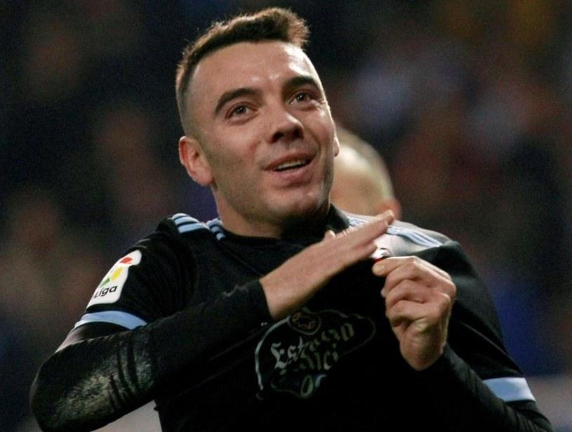 Iago Aspas, strzelec dwóch goli dla Celty Vigo /PAP/EPA
