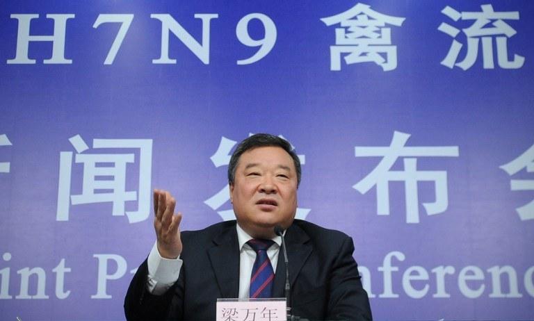 iang Wannian, dyrektor urzędu zajmującego się prewencją i kontrolą H7N9 /AFP