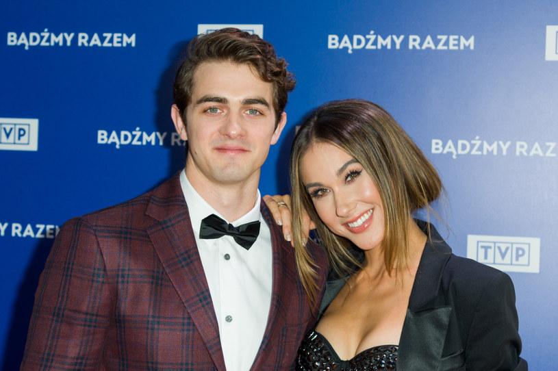 Ida Nowakowska z mężem /Zawadzki /Reporter