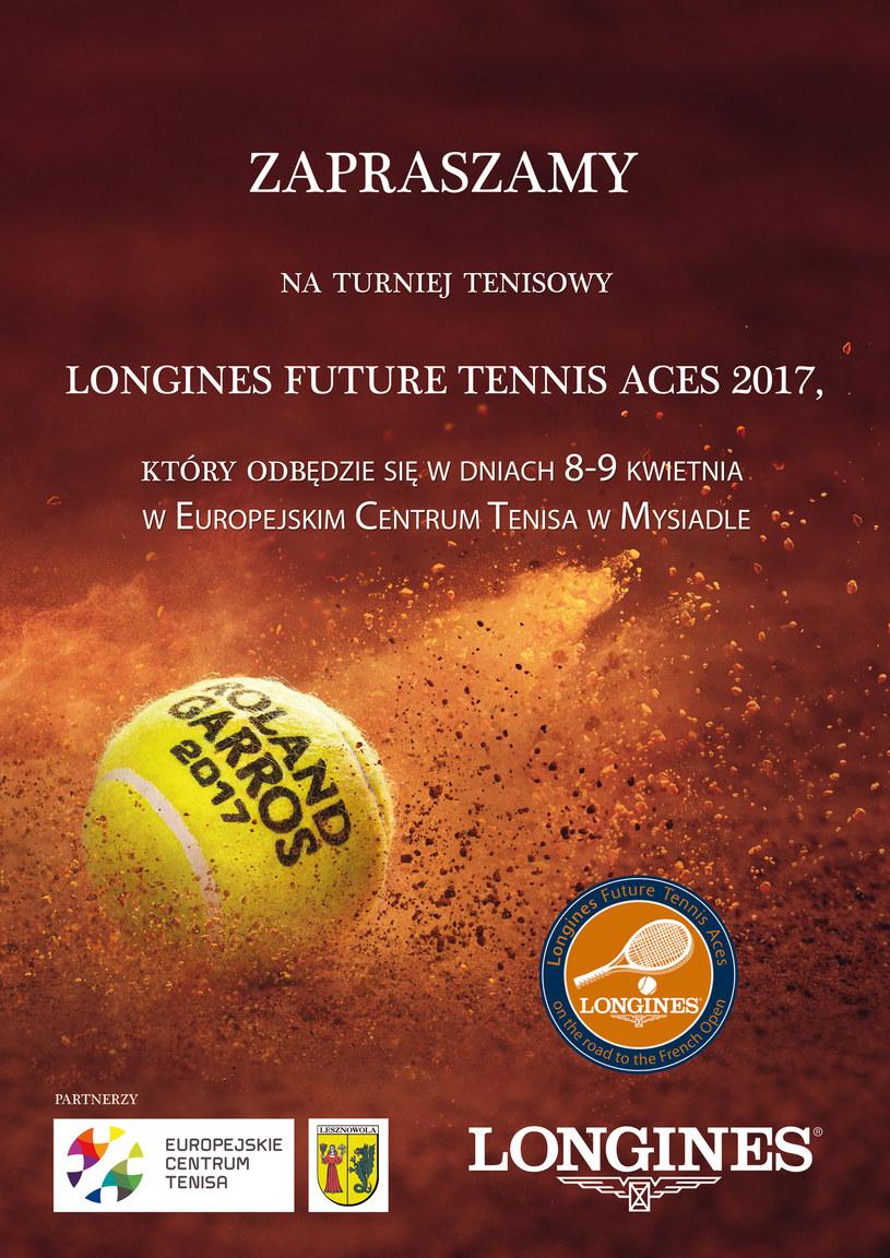 Ideą turnieju jest wsparcie tenisowych talentów /