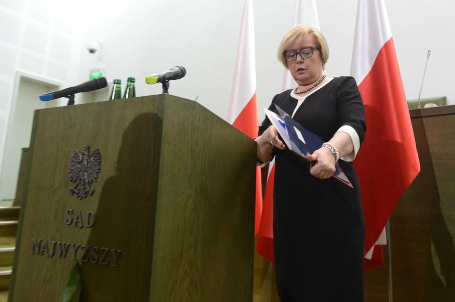 ierwsza Prezes Sądu Najwyższego - prof. Małgorzata Gersdorf / Jakub Kamiński    /PAP