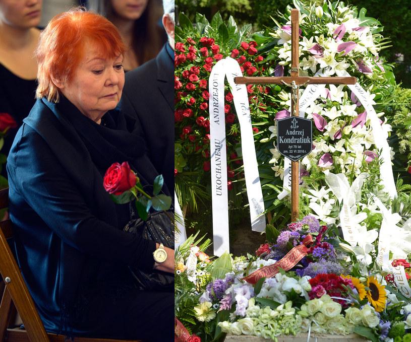 Iga Cembrzyńska podczas pożegnania Andrzeja Kondratiuka /Piętka Mieszko /AKPA