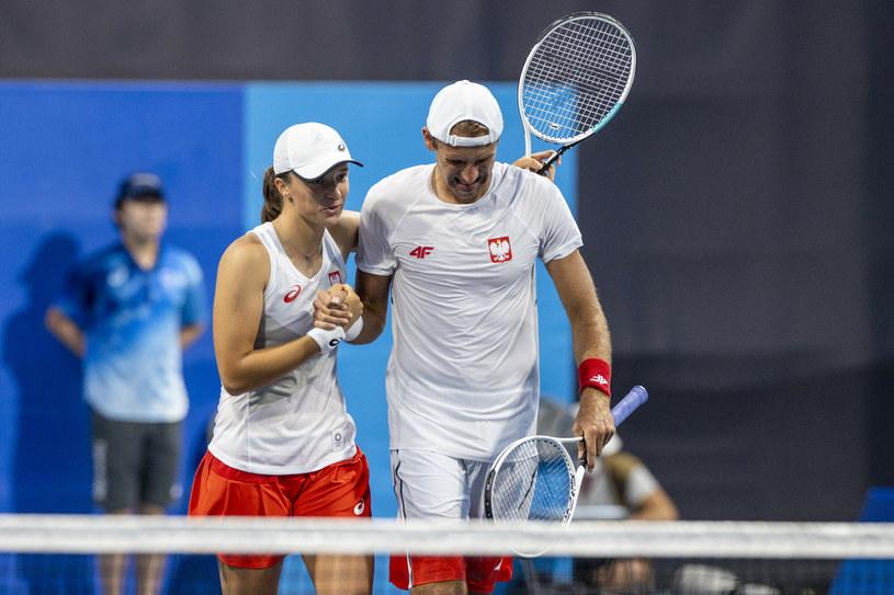 Iga Świątek i Łukasz Kubot /Iwanczuk/Sport/REPORTER /East News