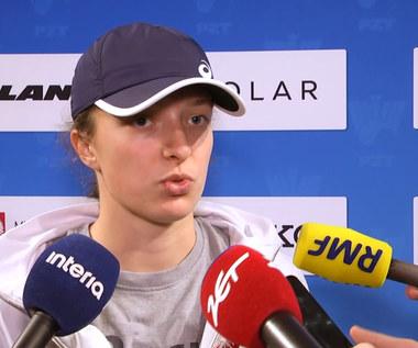 Iga Świątek: Jest mi smutno, że nie gram teraz w Roland Garros. Wideo