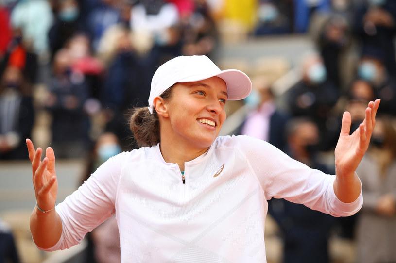 Iga Świątek - mistrzyni Rolanda Garrosa /Julian Finney /Getty Images