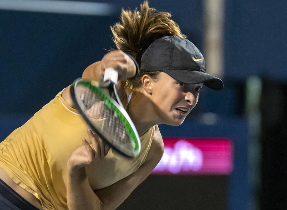 Iga Świątek odpadła w drugiej rundzie US Open /WARREN TODA /PAP