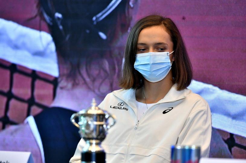 Iga Świątek, triumfatorka wielkoszlemowego turnieju Rolanda Garrosa Open /Andrzej Lange /PAP