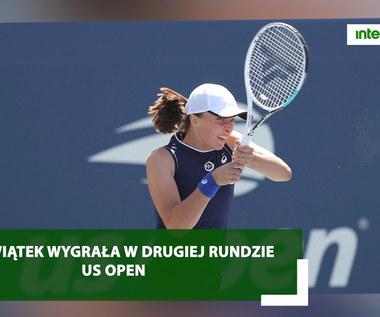 Iga Świątek wygrała w drugiej rundzie  US Open. Wideo