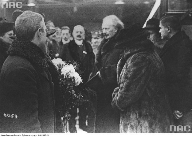 Ignacy Jan Paderewski witany w Poznaniu /Z archiwum Narodowego Archiwum Cyfrowego