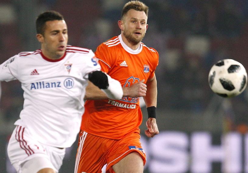 Igor Angulo liczy na kolejnego gola dla Górnika Zabrze /PAP