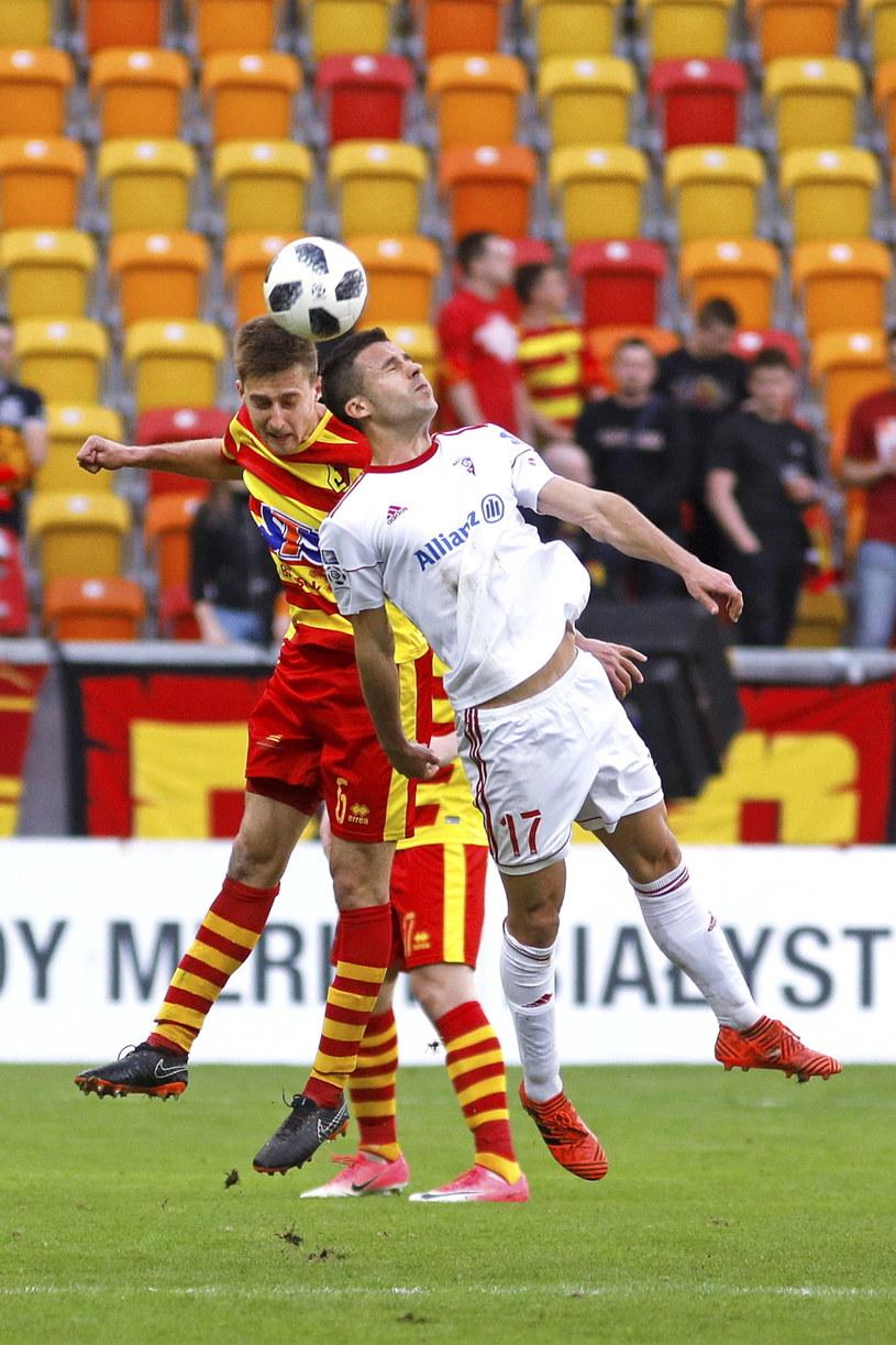 Igor Angulo w meczu z Jagiellonią Białystok /PAP