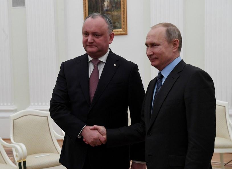 Igor Dodon z prezydentem Rosji /Sergey Mamontov /East News
