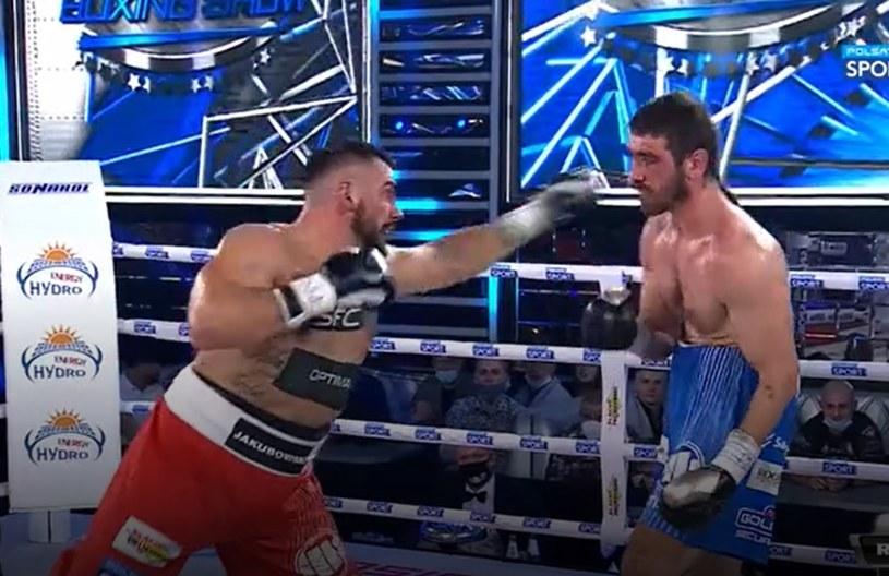 Igor Jakubowski (z lewej) mocno poturbował Krzysztofa Włodarczyka /Polsat Sport