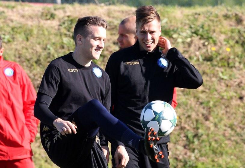 Igor Łasicki (z prawej) i Piotr Zieliński /AFP