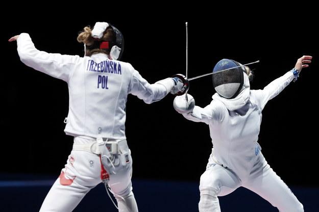 Igrzyska olimpijskie Tokio 2020. Erika Kirpu z Estonii w pojedynku z Ewą Trzebińską /Kiyoshi Ota /PAP/EPA