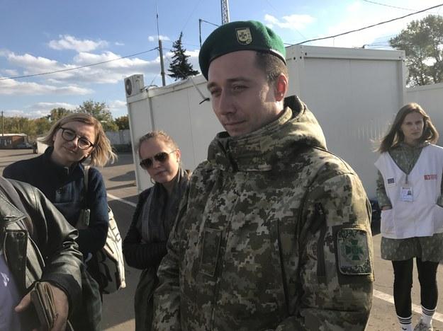 Ihor Zarudniew ze straży granicznej z Kramatorska /Patryk Michalski /RMF FM