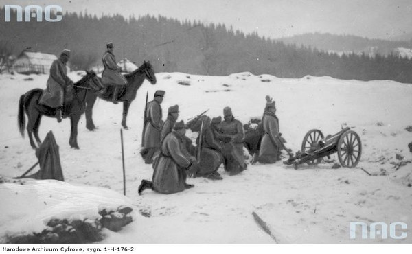 Walki II Brygady Legionów w Karpatach, 1914