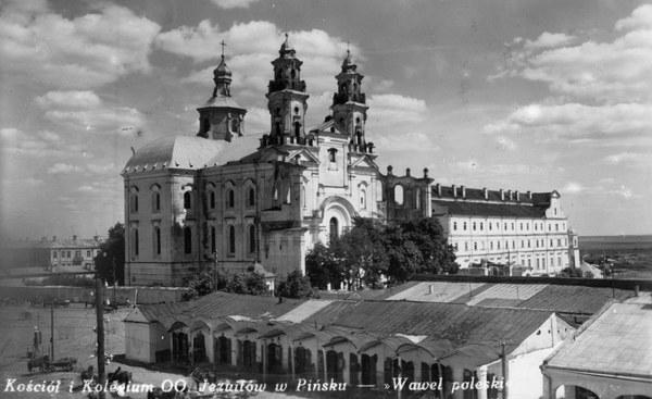 Pińsk - kościół i klasztor jezuitów