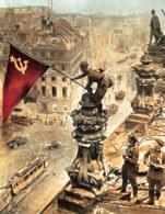 II wojna światowa, żołnierze radzieccy na budynku Reichstagu, maj 1945 r. /Encyklopedia Internautica