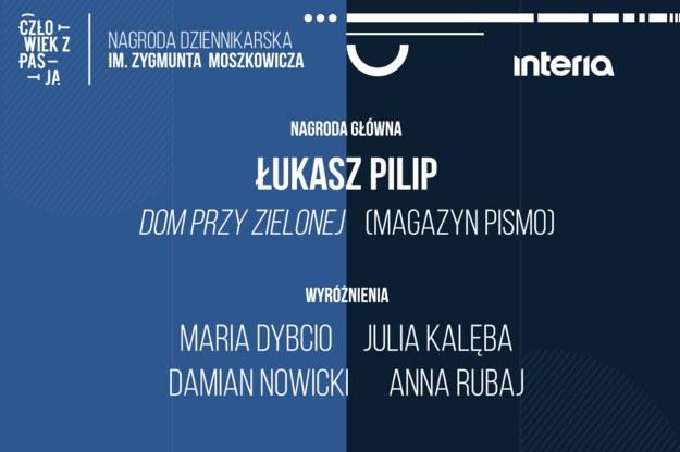 """III edycja konkursu """"Człowiek z pasją - nagroda dziennikarska im. Zygmunta Moszkowicza"""" rozstrzygnięta! /Interia.pl /INTERIA.PL"""