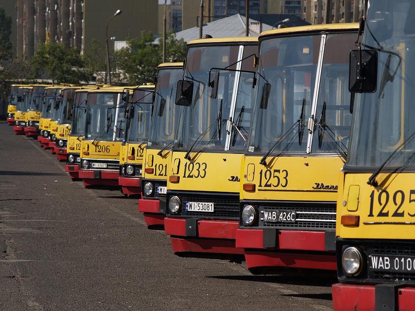 Ikarusy były podstawowymi autobusami miejskimi wielu polskich miast. Na zdjęciu zajezdnia w Warszawie w 2006 roku /Łukasz Jóźwiak /Reporter