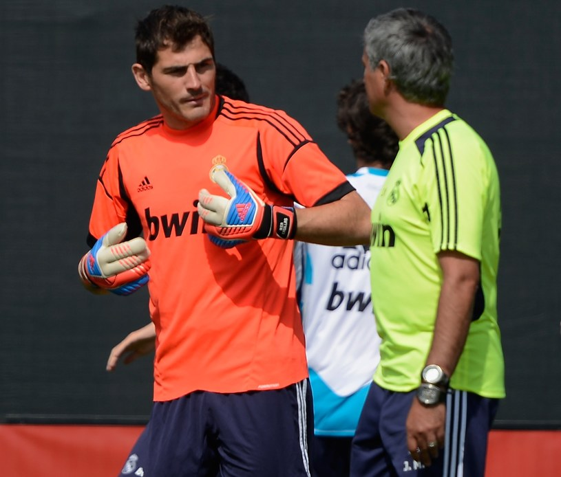 Iker Casillas i Jose Mourinho /Kevork Djansezian /Getty Images