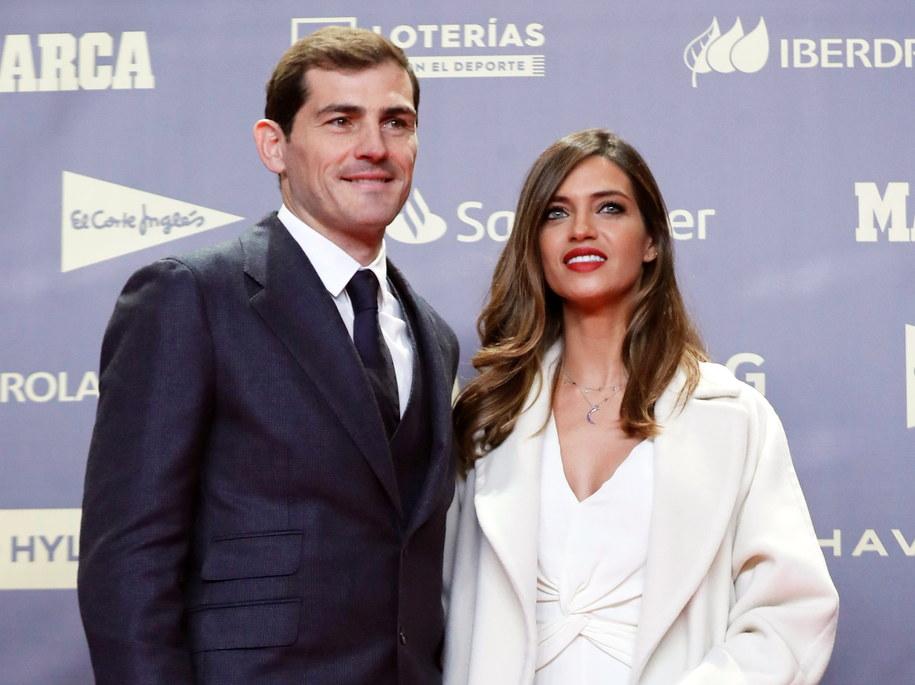 Iker Casillas i Sara Carbonero /JUAN CARLOS HIDALGO    /PAP/EPA