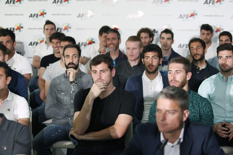 Iker Casillas i Sergio Ramos na konferencji prasowej AFE /PAP/EPA