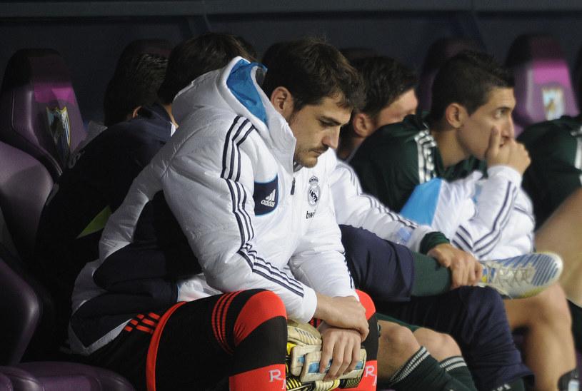 Iker Casillas na ławce rezerwowych Realu Madryt /AFP