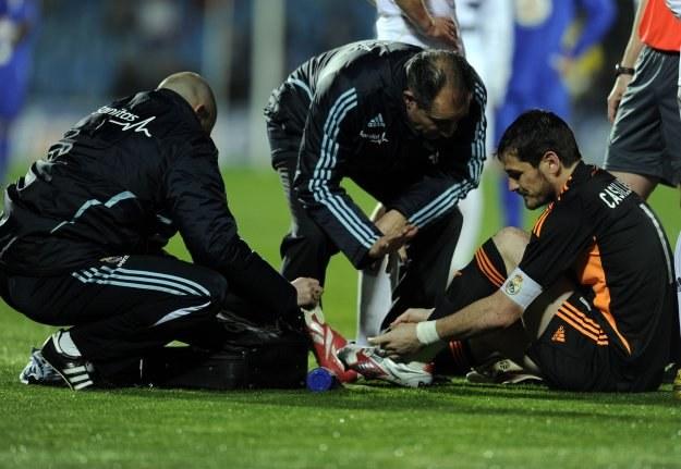 Iker Casillas narzeka na uraz kostki /AFP