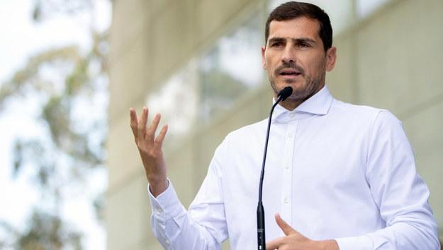 Iker Casillas po wyjściu ze szpitala /RUI FARINHA /PAP/EPA