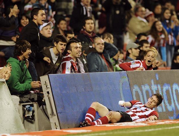 Iker Muniain (Athletic Bilbao) byłby już w reprezentacji Hiszpanii, gdyby grał w Barcy, bądź Realu. /AFP