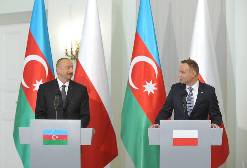 Ilham Alijew i Andrzej Duda /Marcin Obara /PAP