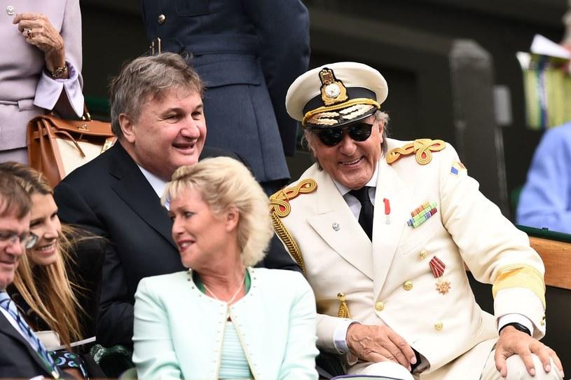 Ilie Nastase (z prawej) na trybunach podczas Wimbledonu /AFP