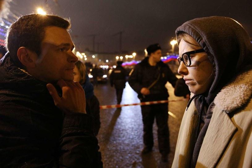 Ilja Jaszyn (L) i Ksenia Sobczak (P) /AFP
