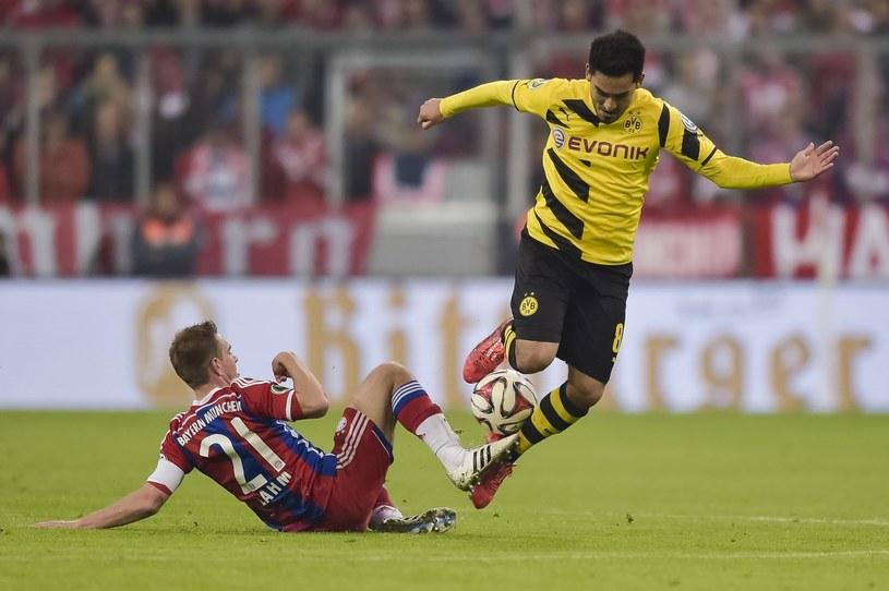 Ilkay Guendogan (w żółtym stroju) znalazł się na celowniku Man Utd /AFP