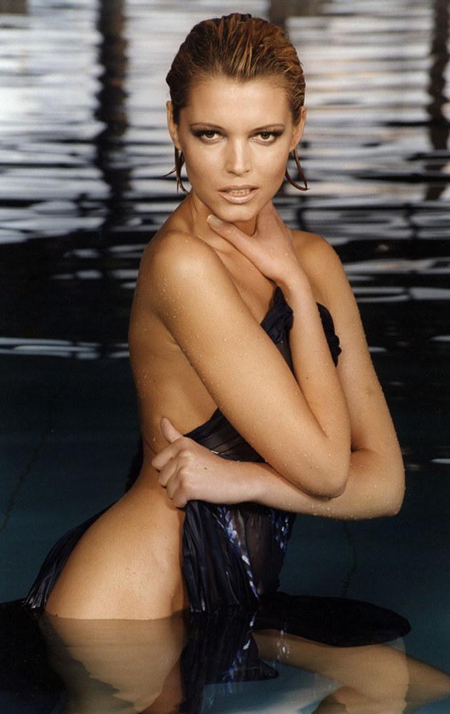 Ilona Felicjańska kiedyś była wziętą modelką - na zdjęciu 1999 r. /Agata J.Dyka /Reporter