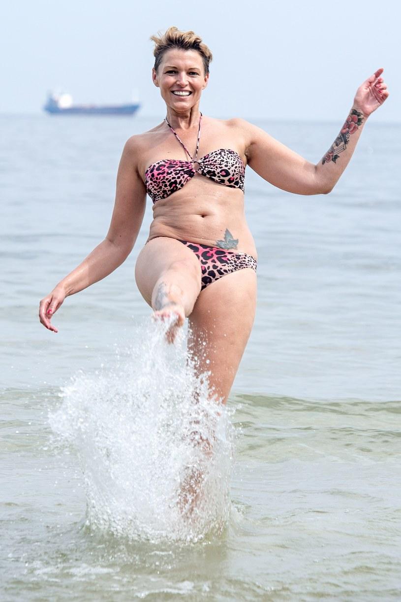 Ilona Felicjańska w bikini /Łukasz Dejnarowicz /Agencja FORUM