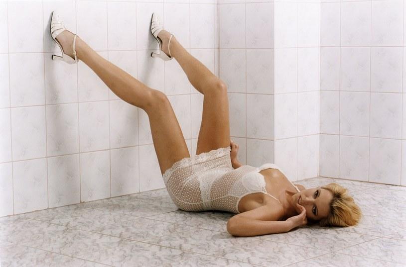 Ilona Felicjańska w jednej z sesji zdjęciowych, rok 1999 /Agata Dyka/ Reporter /East News