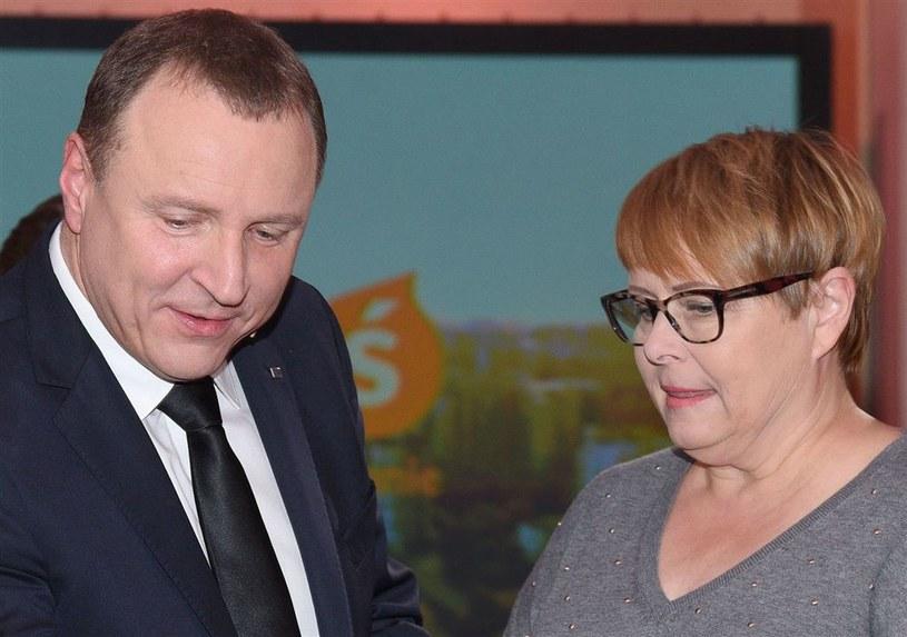Ilona Łepkowska i Jacek Kurski /Agencja W. Impact