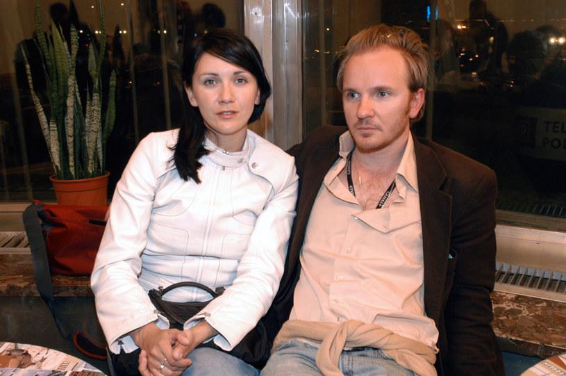 Ilona Ostrowska i Jacek Borcuch, 2004 rok /Mikulski /AKPA